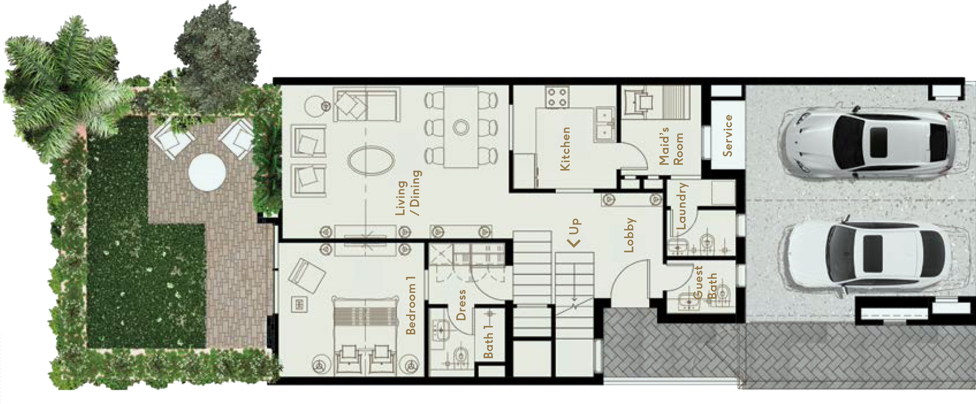 J4 - Ground Floor/ 4 Bedrooms, Family Room and Maid's Room